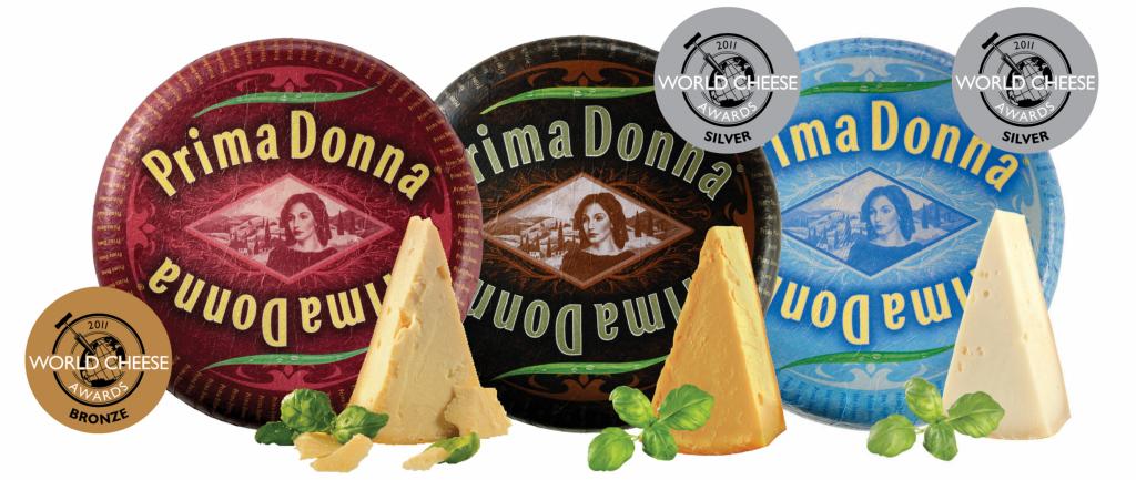 Prima Donna kaasspecialiteiten winnen awards bij World Cheese Awards
